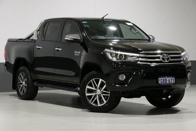 Used Toyota Hilux GUN126R SR5 (4x4), 2016 Toyota Hilux GUN126R SR5 (4x4) Black 6 Speed Automatic Dual Cab Utility