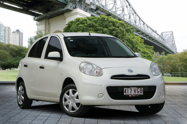 Used Nissan Micra K13 MY13 ST, 2013 Nissan Micra K13 MY13 ST White 5 Speed Manual Hatchback