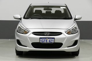 2017 Hyundai Accent RB4 MY17 Active Silver 6 Speed CVT Auto Sequential Sedan.