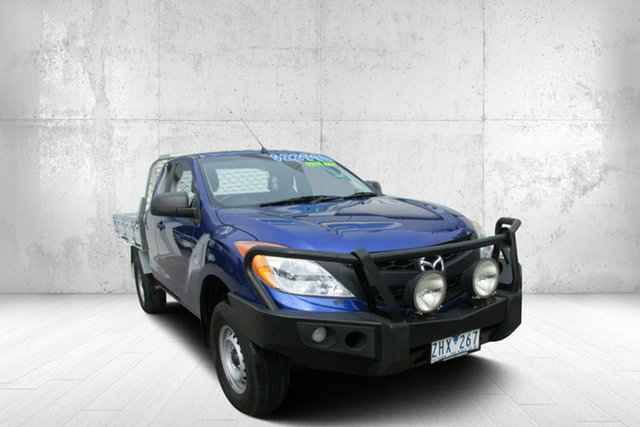 Used Mazda BT-50 UP0YF1 XT Freestyle 4x2 Hi-Rider, 2012 Mazda BT-50 UP0YF1 XT Freestyle 4x2 Hi-Rider Aurora Blue 6 Speed Manual Cab Chassis