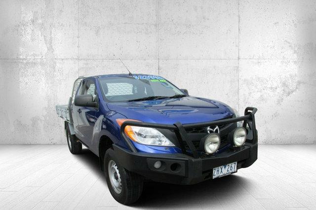 Used Mazda BT-50 UP0YF1 XT Freestyle 4x2 Hi-Rider, 2012 Mazda BT-50 UP0YF1 XT Freestyle 4x2 Hi-Rider Aurora Blue 6 Speed Manual Cab Chassis