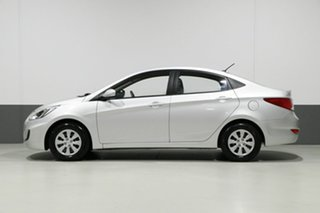 2017 Hyundai Accent RB4 MY17 Active Silver 6 Speed CVT Auto Sequential Sedan
