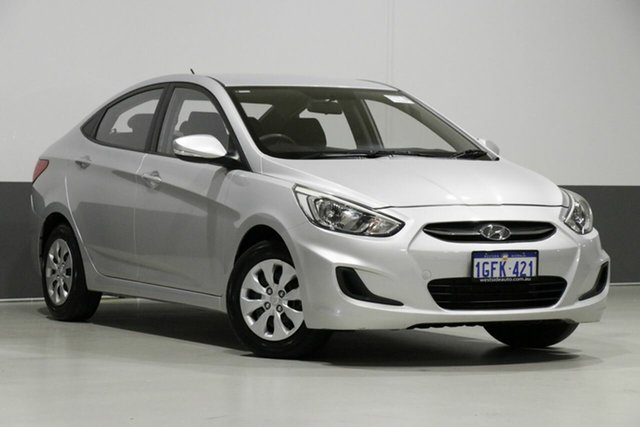 Used Hyundai Accent RB4 MY17 Active, 2017 Hyundai Accent RB4 MY17 Active Silver 6 Speed CVT Auto Sequential Sedan
