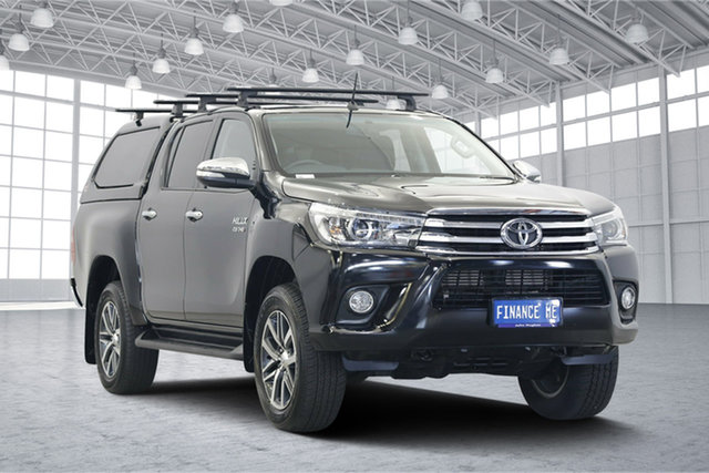 Used Toyota Hilux GUN126R SR5 Double Cab, 2017 Toyota Hilux GUN126R SR5 Double Cab Black 6 Speed Sports Automatic Utility