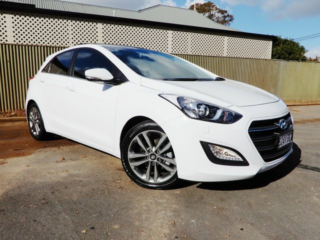 Used Hyundai i30 GD3 Series II MY16 Premium DCT, 2015 Hyundai i30 GD3 Series II MY16 Premium DCT White 7 Speed Sports Automatic Dual Clutch Hatchback