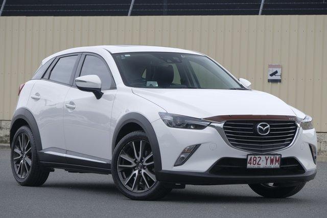 Used Mazda CX-3 DK4W7A Akari SKYACTIV-Drive i-ACTIV AWD, 2015 Mazda CX-3 DK4W7A Akari SKYACTIV-Drive i-ACTIV AWD White 6 Speed Sports Automatic Wagon