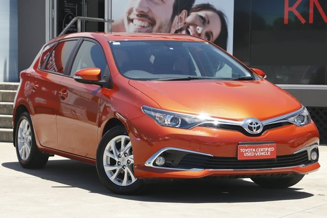 Used Toyota Corolla ZRE182R MY17 Ascent Sport, 2017 Toyota Corolla ZRE182R MY17 Ascent Sport Orange 7 Speed CVT Auto Sequential Hatchback
