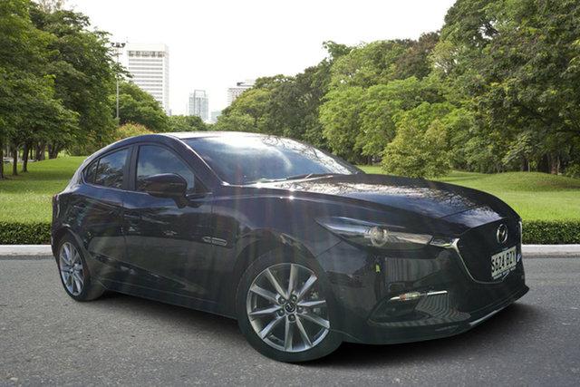 Demo Mazda 3 BN5438 SP25 SKYACTIV-Drive GT, 2018 Mazda 3 BN5438 SP25 SKYACTIV-Drive GT Jet Black 6 Speed Sports Automatic Hatchback