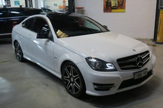 2014 Mercedes-Benz C250 C204 Avantgarde 7G-Tronic + White 7 Speed Sports Automatic Coupe