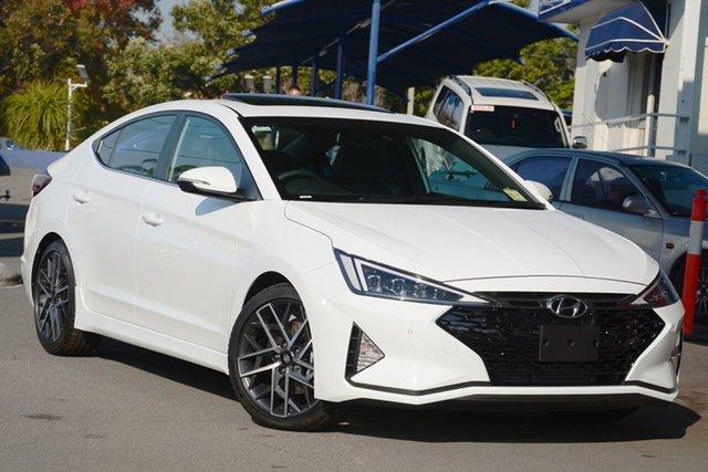 New Hyundai Elantra AD.2 MY19 Sport DCT Premium, 2019 Hyundai Elantra AD.2 MY19 Sport DCT Premium Polar White 7 Speed Sports Automatic Dual Clutch