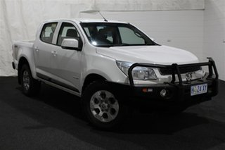 2014 Holden Colorado RG MY14 LX Crew Cab 4x2 Summit White 6 Speed Manual Utility.