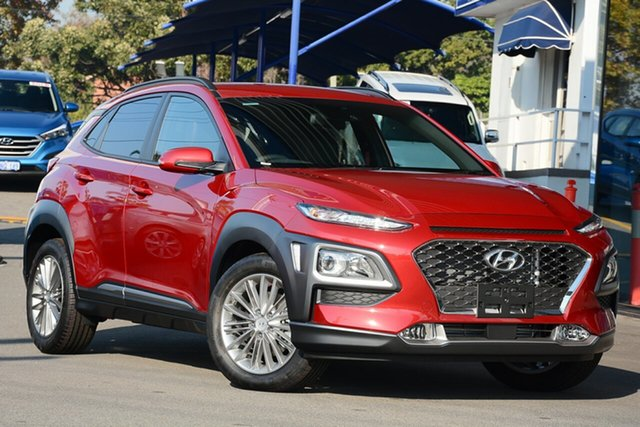 New Hyundai Kona OS.2 MY19 Elite D-CT AWD, 2019 Hyundai Kona OS.2 MY19 Elite D-CT AWD Pulse Red 7 Speed Sports Automatic Dual Clutch Wagon