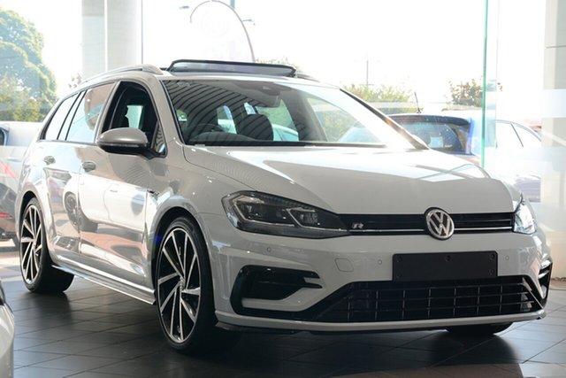 New Volkswagen Golf 7.5 MY19 R DSG 4MOTION, 2018 Volkswagen Golf 7.5 MY19 R DSG 4MOTION Pure White 7 Speed Sports Automatic Dual Clutch Wagon