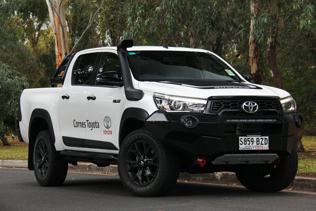 Demo Toyota Hilux GUN126R Rugged X Double Cab, 2018 Toyota Hilux GUN126R Rugged X Double Cab White 6 Speed Sports Automatic Utility