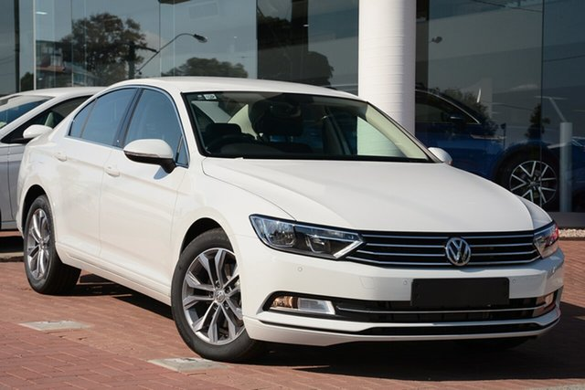 Demo Volkswagen Passat 3C (B8) MY19 132TSI DSG, 2018 Volkswagen Passat 3C (B8) MY19 132TSI DSG Pure White 7 Speed Sports Automatic Dual Clutch Sedan