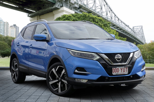 Demo Nissan Qashqai J11 Series 2 Ti X-tronic, 2018 Nissan Qashqai J11 Series 2 Ti X-tronic Vivid Blue 1 Speed Constant Variable Wagon