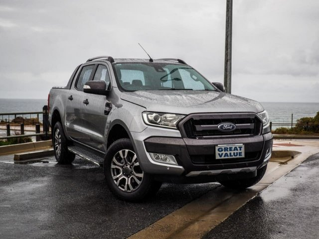 Used Ford Ranger PX MkII , 2015 Ford Ranger PX MkII Wildtrak Silver 6 Speed Sports Automatic Utility
