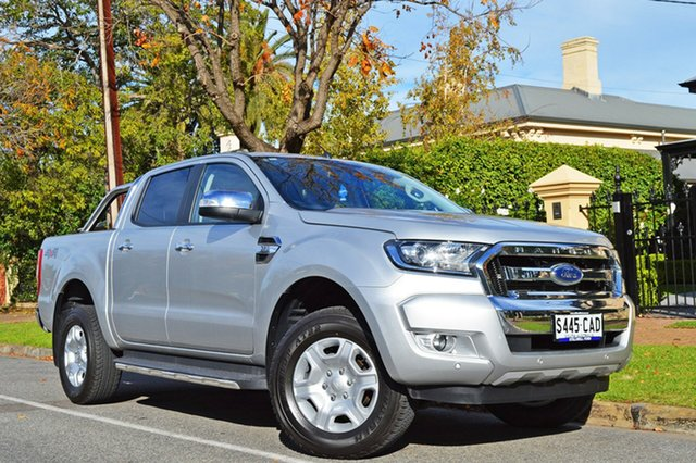 Used Ford Ranger PX MkII XLT Double Cab, 2017 Ford Ranger PX MkII XLT Double Cab Silver 6 Speed Sports Automatic Utility