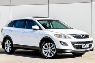 2011 Mazda CX-9 TB10A4 MY12 Luxury Crystal White Pearl 6 Speed Sports Automatic Wagon.