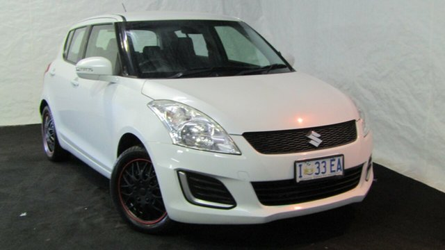 Used Suzuki Swift FZ MY14 GL, 2014 Suzuki Swift FZ MY14 GL White 4 Speed Automatic Hatchback