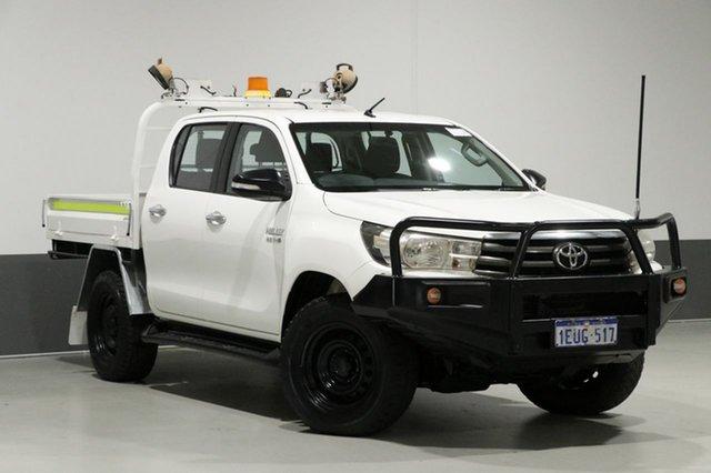 Used Toyota Hilux GUN126R SR (4x4), 2015 Toyota Hilux GUN126R SR (4x4) White 6 Speed Automatic Dual Cab Chassis
