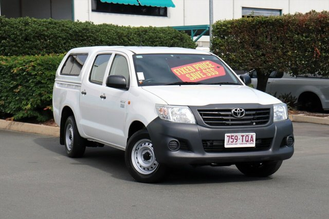 Used Toyota Hilux TGN16R MY14 Workmate Double Cab 4x2, 2013 Toyota Hilux TGN16R MY14 Workmate Double Cab 4x2 Glacier 4 Speed Automatic Utility
