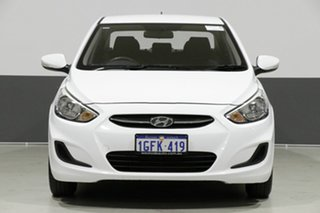 2017 Hyundai Accent RB4 MY17 Active White 6 Speed CVT Auto Sequential Sedan.