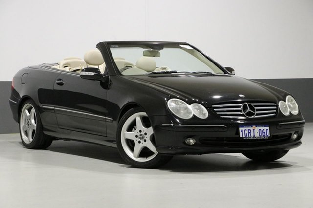 Used Mercedes-Benz CLK320 C209 Elegance, 2003 Mercedes-Benz CLK320 C209 Elegance Black 5 Speed Auto Touchshift Coupe