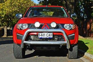 2013 Mitsubishi Triton MN MY14 GLX-R Double Cab Red 5 Speed Sports Automatic Utility