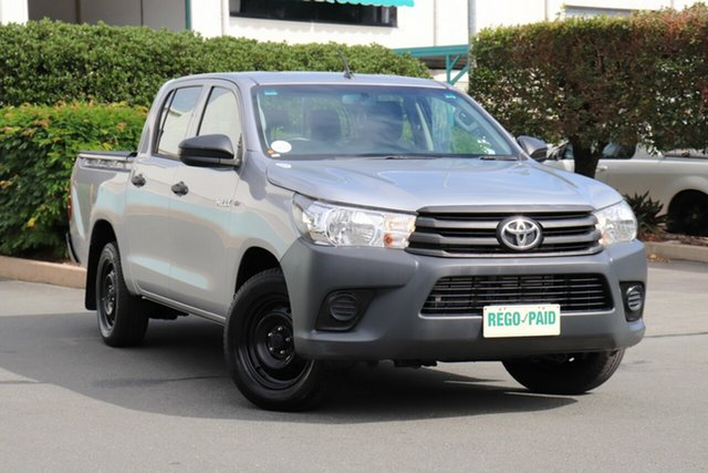 Used Toyota Hilux GUN122R Workmate Double Cab 4x2, 2016 Toyota Hilux GUN122R Workmate Double Cab 4x2 5 Speed Manual Utility