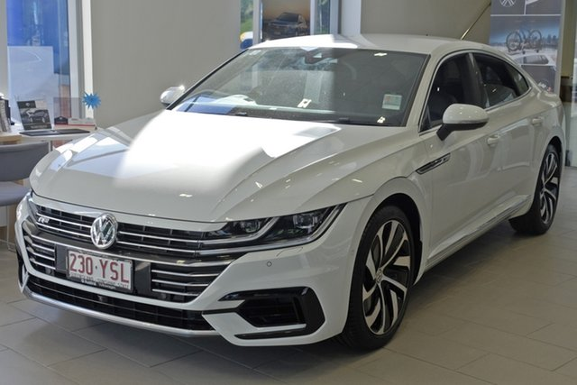 Demo Volkswagen Arteon 3H MY18 206TSI Sedan DSG 4MOTION R-Line, 2017 Volkswagen Arteon 3H MY18 206TSI Sedan DSG 4MOTION R-Line Pure White 7 Speed