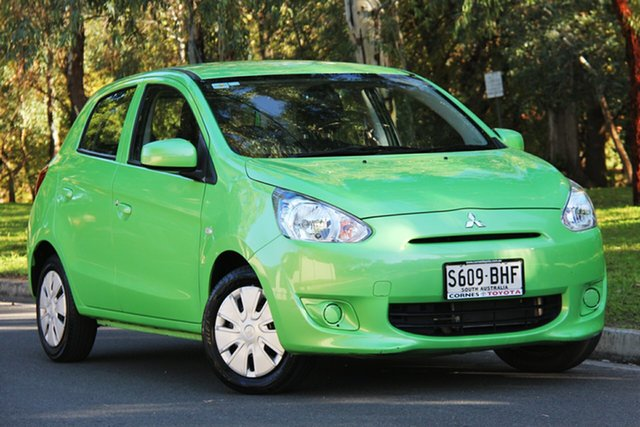 Used Mitsubishi Mirage LA MY14 ES, 2014 Mitsubishi Mirage LA MY14 ES Green 1 Speed Constant Variable Hatchback