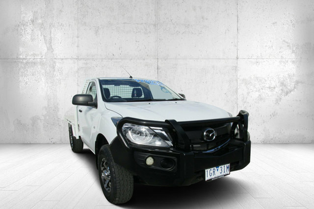 Used Mazda BT-50 XT XT, 2015 Mazda BT-50 XT XT White 6 Speed Automatic Cab Chassis