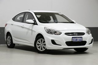 2015 Hyundai Accent RB2 Active White 4 Speed Automatic Sedan.