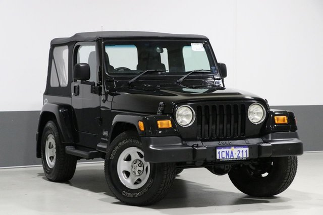 Used Jeep Wrangler TJ Sport (4x4), 2006 Jeep Wrangler TJ Sport (4x4) Black 4 Speed Automatic Softtop