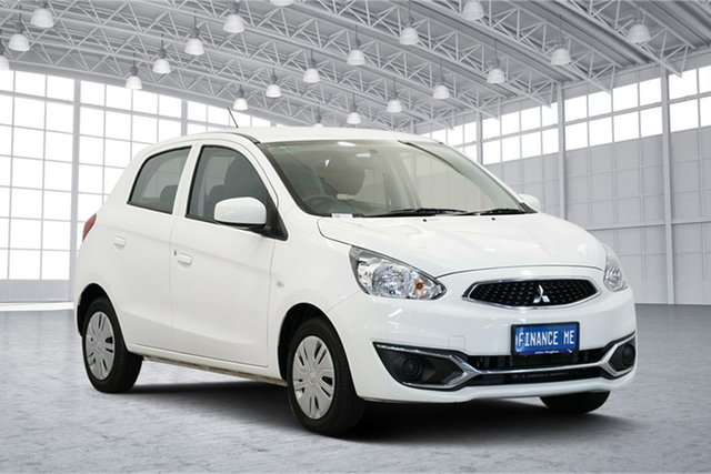 Used Mitsubishi Mirage LA MY17 ES, 2017 Mitsubishi Mirage LA MY17 ES White 1 Speed Constant Variable Hatchback
