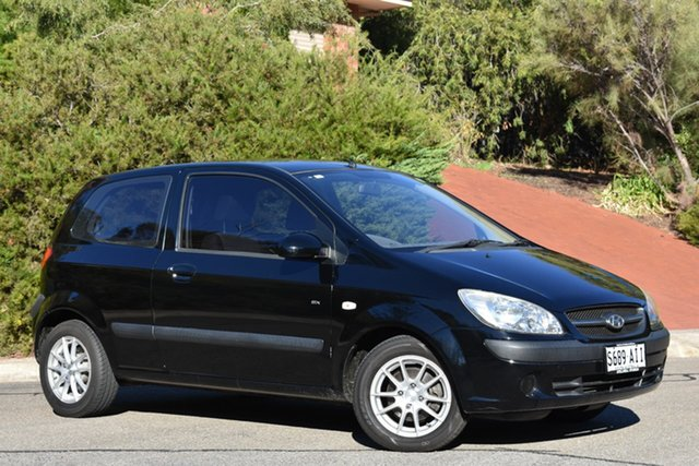 Used Hyundai Getz TB MY09 S, 2010 Hyundai Getz TB MY09 S Black 4 Speed Automatic Hatchback