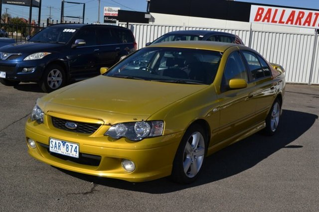 Used Ford Falcon BA XR6, 2003 Ford Falcon BA XR6 Gold 4 Speed Automatic Sedan