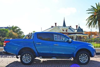 2016 Mitsubishi Triton MQ MY17 GLS Double Cab Blue 5 Speed Sports Automatic Utility.