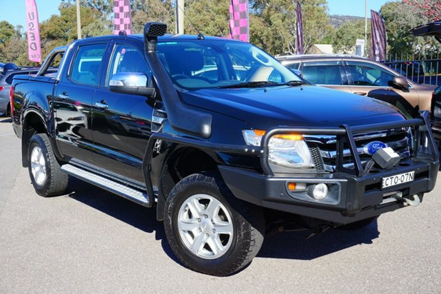 Used Ford Ranger PX XLT Super Cab, 2014 Ford Ranger PX XLT Super Cab Black 6 Speed Sports Automatic Utility