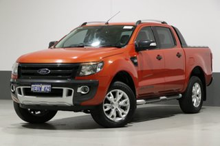 2015 Ford Ranger PX Wildtrak 3.2 (4x4) Orange 6 Speed Automatic Crew Cab Utility.
