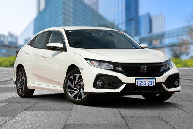 Demo Honda Civic 10th Gen MY18 VTi-S, 2019 Honda Civic 10th Gen MY18 VTi-S White Orchid 1 Speed Constant Variable Hatchback