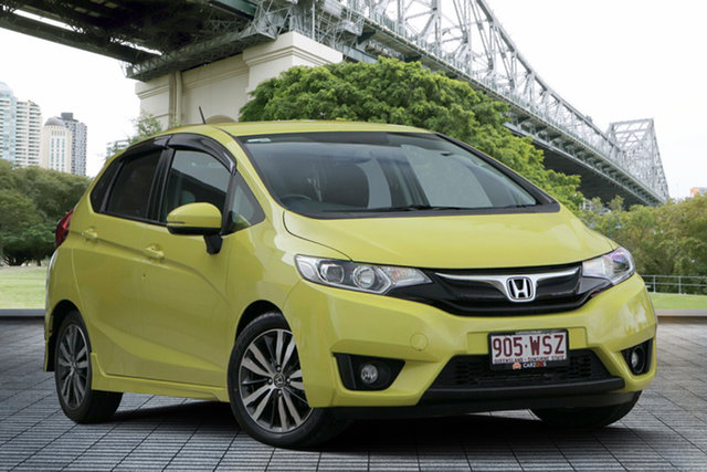 Used Honda Jazz GF MY15 VTi-S, 2015 Honda Jazz GF MY15 VTi-S Yellow 1 Speed Constant Variable Hatchback
