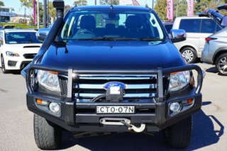 2014 Ford Ranger PX XLT Super Cab Black 6 Speed Sports Automatic Utility.