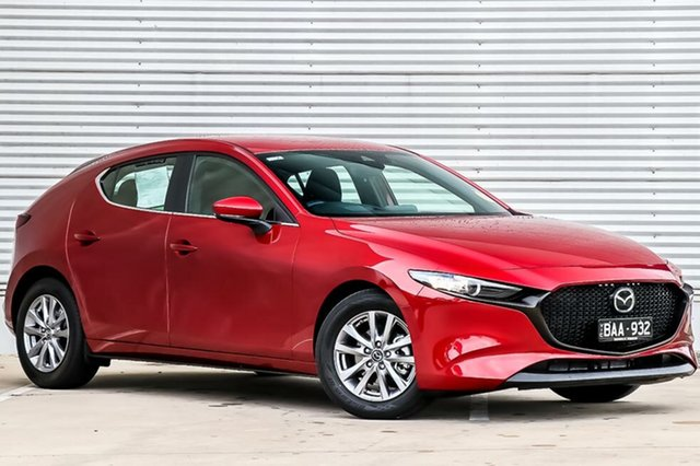 Demo Mazda 3 BP2H7A G20 SKYACTIV-Drive Pure, 2019 Mazda 3 BP2H7A G20 SKYACTIV-Drive Pure Soul Red Crystal 6 Speed Sports Automatic Hatchback