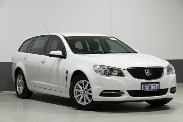 Used Holden Commodore VF MY15 Evoke, 2015 Holden Commodore VF MY15 Evoke White 6 Speed Automatic Sportswagon