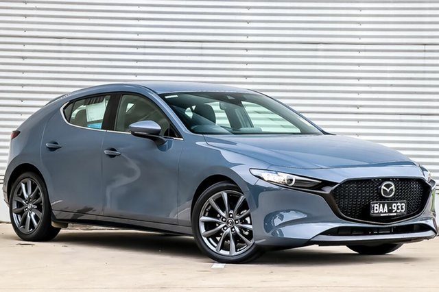 Demo Mazda 3 BP2H76 G20 SKYACTIV-MT Touring, 2019 Mazda 3 BP2H76 G20 SKYACTIV-MT Touring Polymetal Grey 6 Speed Manual Hatchback