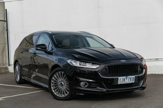 2017 Ford Mondeo MD 2017.00MY Titanium PwrShift Black 6 Speed Sports Automatic Dual Clutch Wagon.