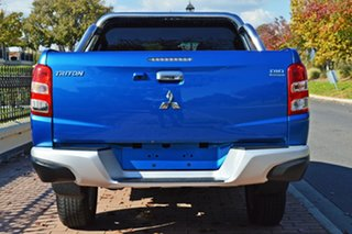 2016 Mitsubishi Triton MQ MY17 GLS Double Cab Blue 5 Speed Sports Automatic Utility