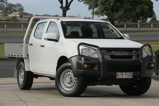 Used Isuzu D-MAX MY14 SX Crew Cab, 2014 Isuzu D-MAX MY14 SX Crew Cab White 5 Speed Sports Automatic Cab Chassis